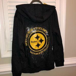 super popular a7e07 cdb77 Women's Steelers Zip up hoodie NWT